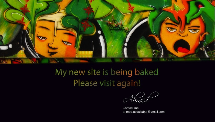 My site is being baked, Please visit again!
